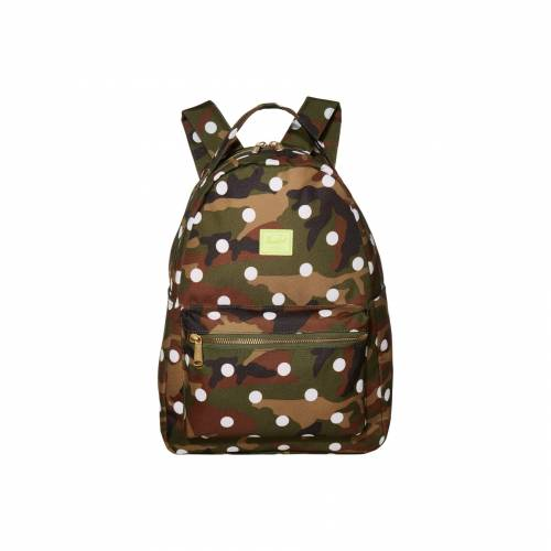 HERSCHEL SUPPLY CO. サプライ ウッドランド 白 ホワイト CO. 【 SUPPLY WHITE HERSCHEL NOVA MIDVOLUME WOODLAND CAMO DOT 】 バッグ