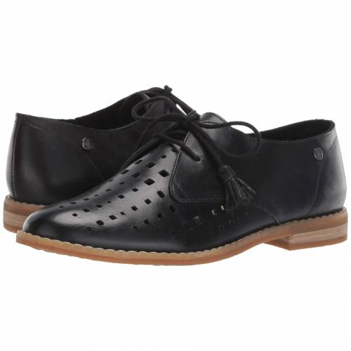 HUSH PUPPIES オックスフォード 黒 ブラック レザー 【 BLACK HUSH PUPPIES CHARDON PERF OXFORD LEATHER 】