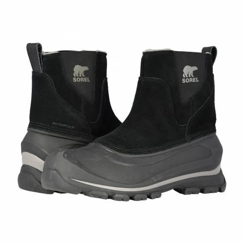 ソレル SOREL 黒 ブラック 【 BLACK SOREL BUXTON PULL ON QUARRY 】 メンズ ブーツ