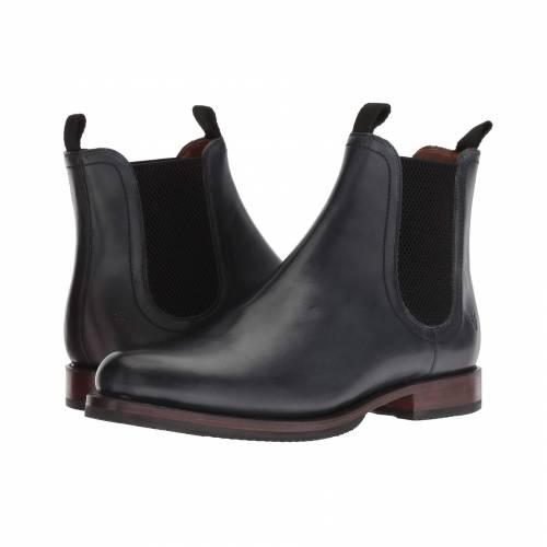 FRYE 黒 ブラック レザー 【 BLACK FRYE SAWYER CHELSEA DIPDYE LEATHER 】 メンズ ブーツ