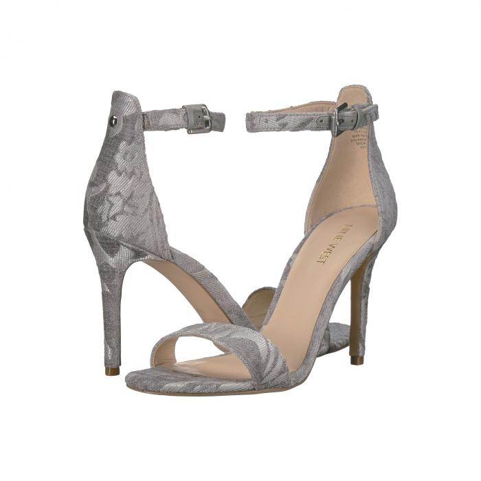 NINE WEST レディース 【 Mana Stiletto Heel Sandal 】 Light Grey Fabric