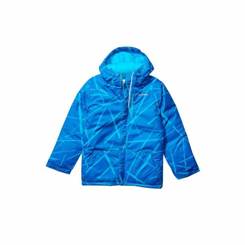 コロンビアキッズ COLUMBIA KIDS 青 ブルー スパイダー LIFT・・ 【 BLUE COLUMBIA KIDS LIGHTNING JACKET TODDLER OCEAN SPIDER STREETS PRINT 】 キッズ ベビー マタニティ コート