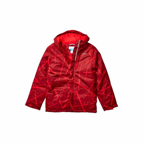 コロンビアキッズ COLUMBIA KIDS 赤 レッド スパイダー LIFT・・ 【 RED COLUMBIA KIDS LIGHTNING JACKET LITTLE BIG MOUNTAIN SPIDER STREETS PRINT 】 キッズ ベビー マタニティ コート
