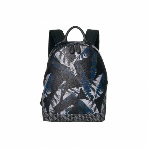 TED BAKER バックパック バッグ リュックサック 紺 ネイビー 【 NAVY TED BAKER PYGMY PRINTED PU BACKPACK 】 メンズファッション トップス Tシャツ カットソー
