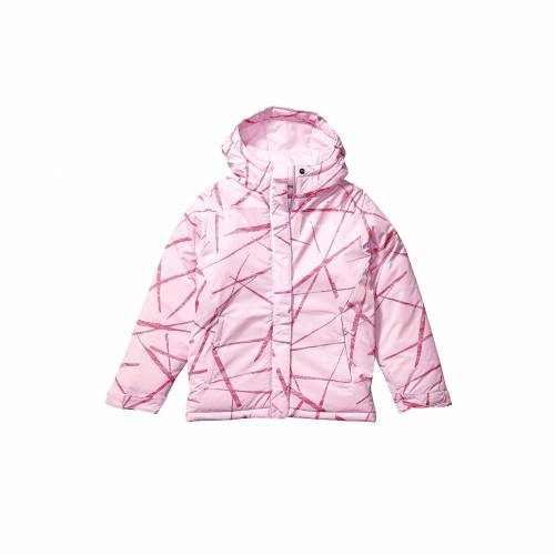 コロンビアキッズ COLUMBIA KIDS ピンク スパイダー RIDE・・ 【 PINK COLUMBIA KIDS HORIZON JACKET TODDLER CLOVER SPIDER STREETS PRINT 】 キッズ ベビー マタニティ コート