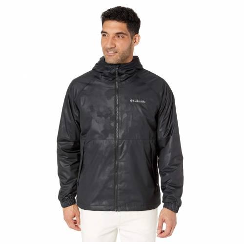 コロンビア COLUMBIA 黒 ブラック HEIGHTS・・ 【 BLACK COLUMBIA HELVETIA JACKET CAMO LINES EMBOSS 】 メンズファッション コート ジャケット