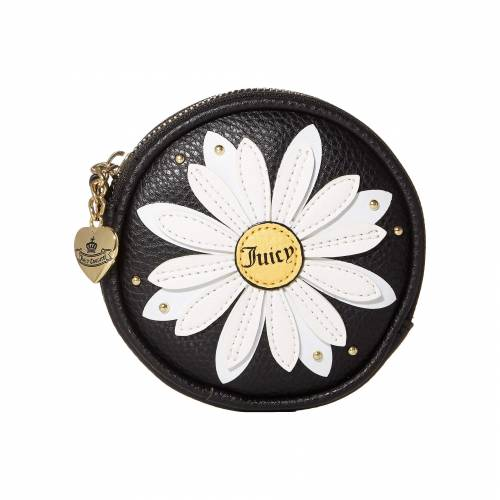 JUICY COUTURE コイン 黒 ブラック 【 BLACK JUICY COUTURE DAISY COIN PURSE 】 バッグ