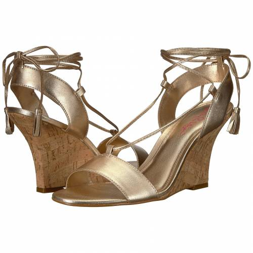 LILLY PULITZER 金色 ゴールド 【 LILLY PULITZER ARIA WEDGE GOLD METALLIC 】
