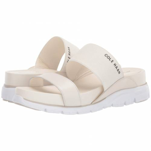 コールハーン COLE HAAN サンダル アイボリー レザー 白 ホワイト 【 WHITE COLE HAAN ZEROGRAND DOUBLE BAND SLIDE SANDAL IVORY LEATHER BIRCH OPTIC 】