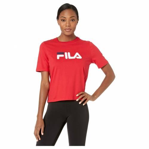 フィラ FILA フィラ Tシャツ 赤 レッド 白 ホワイト 【 RED WHITE FILA MISS EAGLE TEE CHINESE PEACH 】 レディースファッション トップス