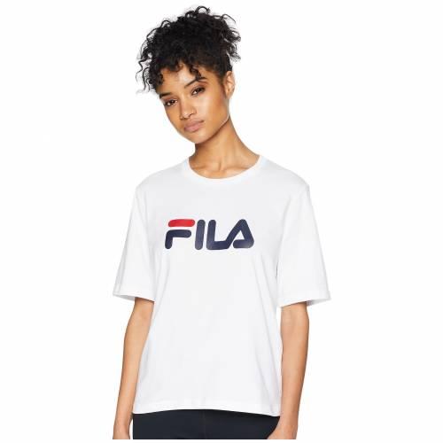 フィラ FILA フィラ Tシャツ 白 ホワイト 紺 ネイビー 赤 レッド 【 WHITE NAVY RED FILA MISS EAGLE TEE 】 レディースファッション トップス