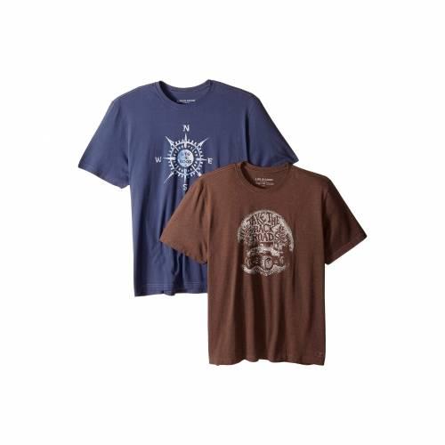 LIFE IS GOOD Tシャツ 【 LIFE IS GOOD 2PACK BACK ROADS TSHIRT BUNDLE MULTI 】 レディースファッション ワンピース