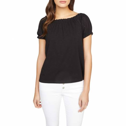SANCTUARY スリーブ Tシャツ 黒 ブラック 【 SLEEVE BLACK SANCTUARY SHORT JULIA TEE 】 レディースファッション トップス Tシャツ カットソー