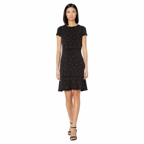 MICHAEL MICHAEL KORS ドレス 黒 ブラック 【 BLACK MICHAEL KORS FLOWER HEM TOP FLOUNCE DRESS 】 レディースファッション トップス
