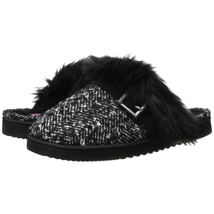 FOOT PETALS レディース 【 Technogel Closed Toe Scuff 】 Black/white Tweed