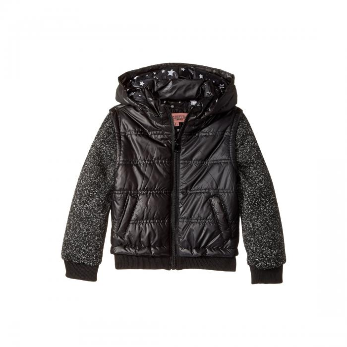 【海外限定】ベビー キッズ 【 PUFFER JACKET WITH MELANGE SLEEVES LITTLE KIDS BIG 】