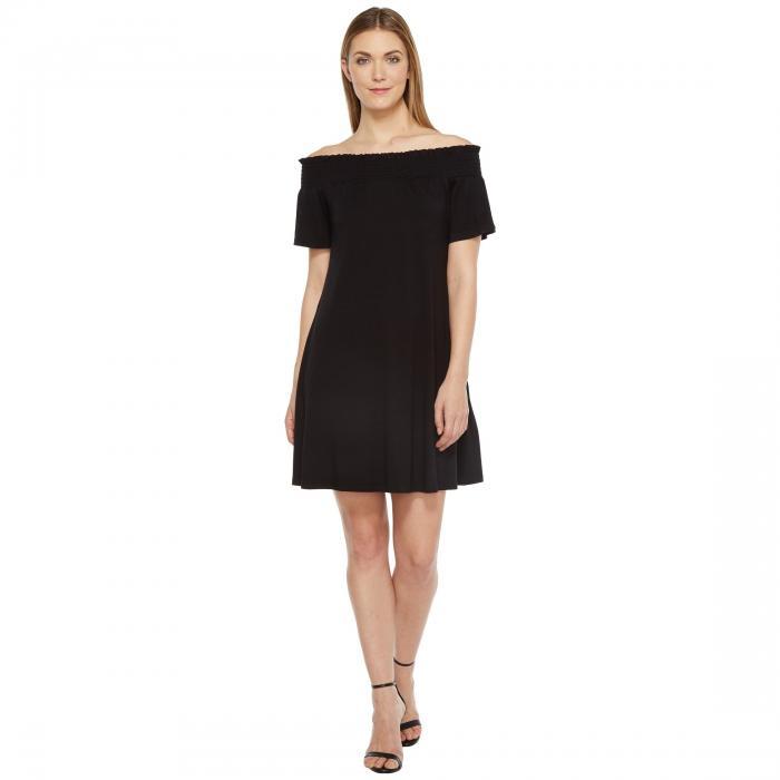 KAREN KANE スウィング ドレス レディースファッション ワンピース レディース 【 Off The Shoulder Swing Dress 】 Black