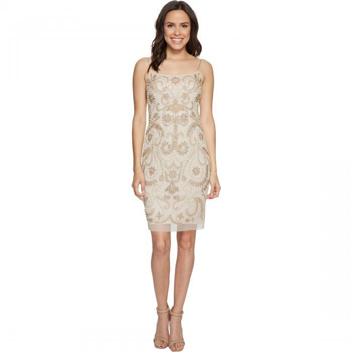 【海外限定】ドレス ワンピース レディースファッション 【 BEADED COCKTAIL DRESS 】【送料無料】