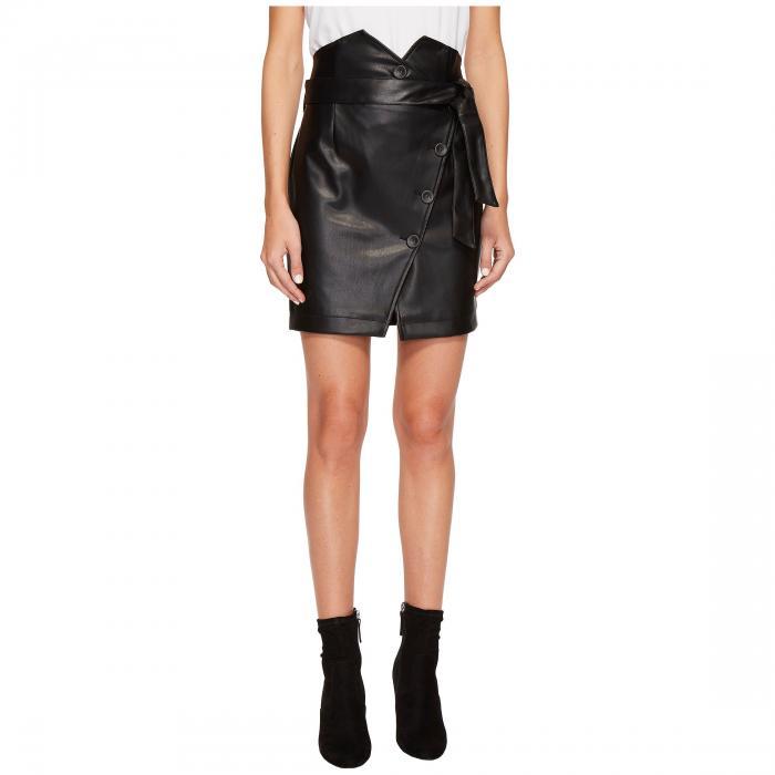 【海外限定】ベルト スカート レディースファッション 【 PU SKIRT W BELT DETAIL 】【送料無料】