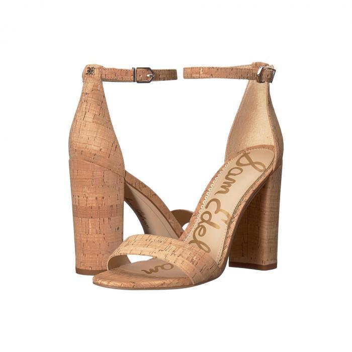 SAM EDELMAN ストラップ レディース 【 Yaro Ankle Strap Sandal Heel 】 Natural Premium Cork