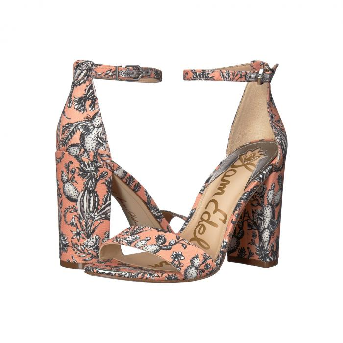 SAM EDELMAN ストラップ レディース 【 Yaro Ankle Strap Sandal Heel 】 Orange Multi Cactus Garden Print