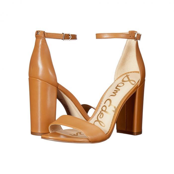 SAM EDELMAN ストラップ レディース 【 Yaro Ankle Strap Sandal Heel 】 Saddle Vaquero Saddle Leather