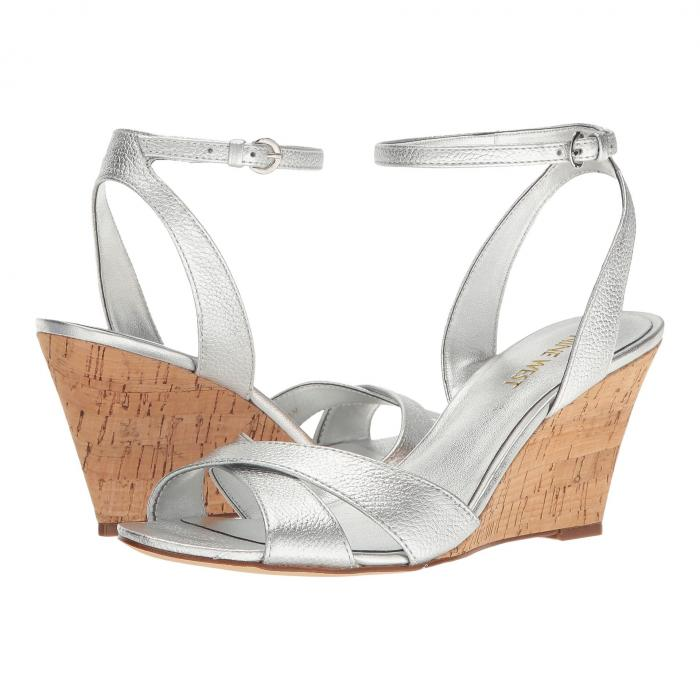 NINE WEST レディース 【 Kami Wedge Sandal 】 Silver Metallic