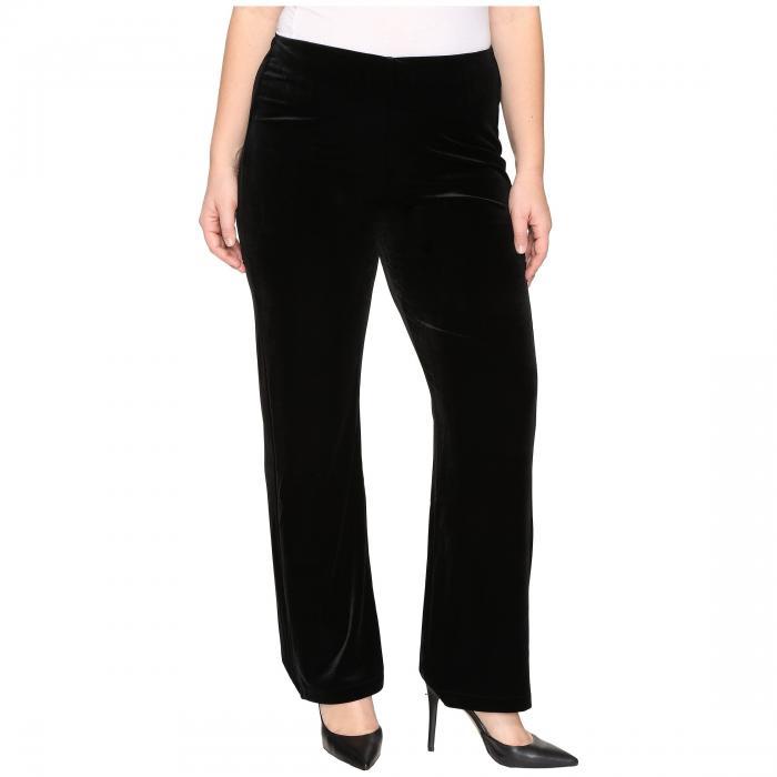 LYSSE 黒 ブラック 【 BLACK LYSSE PLUS SIZE VELVET PANTS 】 レディースファッション ボトムス パンツ