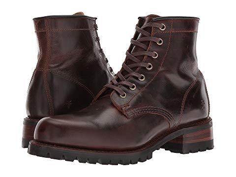 FRYE 茶 ブラウン スムース 【 BROWN FRYE ADDISON LUG LACEUP DARK SMOOTH PULL UP 】 メンズ ブーツ