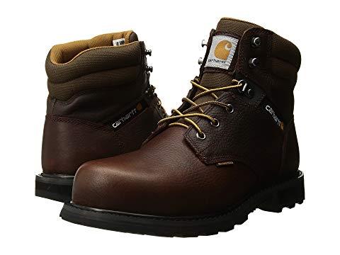 """【★スーパーセール中★ 6/11深夜2時迄】カーハート CARHARTT 銀色 スチール ブーツ 6"""" メンズ 【 6"""" Waterproof Steel Toe Work Boot 】 Brown Pebble Oil Tanned"""