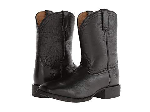 【★スーパーセール中★ 6/11深夜2時迄】アリアト ARIAT メンズ ブーツ 【 Heritage Roper Wide Square Toe 】 Black Deertan