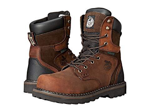 """【海外限定】ブーツ 銀色 スチール 8"""" スニーカー 靴 【 GEORGIA BOOT BROOKVILLE STEEL TOE WATERPROOF 】【送料無料】"""