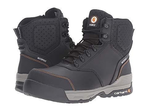 """【★スーパーセール中★ 6/11深夜2時迄】カーハート CARHARTT ブーツ 6"""" メンズ 【 6"""" Waterproof Comp Toe Work Boot 】 Black Leather"""