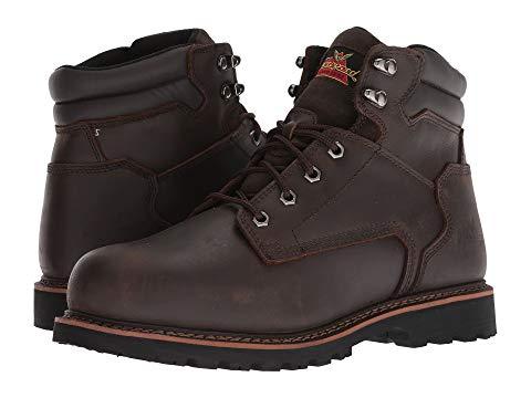 """【★スーパーセール中★ 6/11深夜2時迄】THOROGOOD ブーツ 銀色 スチール 6"""" スニーカー メンズ 【 V-series Work Boot 6"""" Steel Toe 】 Brown"""