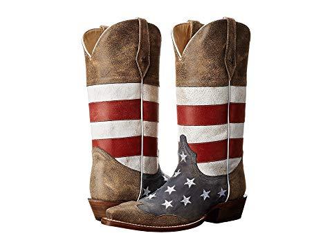 【★スーパーセール中★ 6/11深夜2時迄】ROPER メンズ ブーツ 【 American Flag Snip Toe 】 Brown