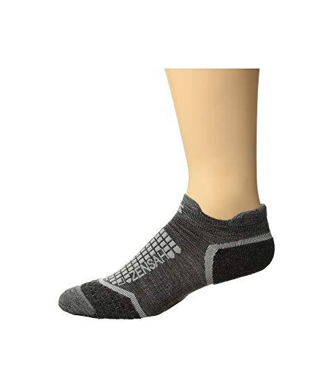 ZENSAH ソックス 靴下 インナー 下着 ナイトウエア メンズ 下 レッグ ユニセックス 【 Grit Running Socks No Show 】 Grey