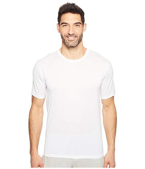 【スーパーセール中! 6/11深夜2時迄】HANRO スリーブ メンズファッション トップス Tシャツ カットソー メンズ 【 Cotton Sporty Short Sleeve Shirt 】 White