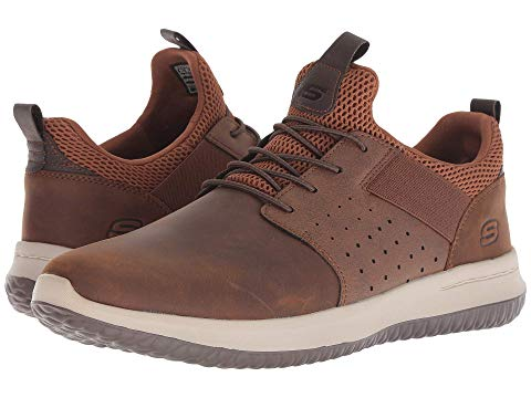 SKECHERS スニーカー メンズ 【 Delson - Axton 】 Dark Brown