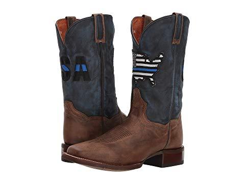 ダンポスト DAN POST 青 ブルー スニーカー メンズ 【 Thin Blue Line 】 Sand/blue Leather
