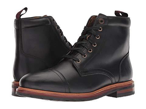 FLORSHEIM キャップ 帽子 ブーツ スニーカー メンズ 【 Foundry Cap Toe Lace-up Boot 】 Black Horween