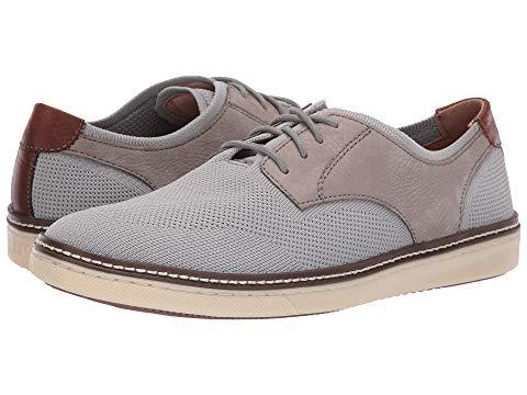 JOHNSTON & MURPHY ニット スニーカー メンズ 【 Mcguffey Plain Toe Knit Sneaker 】 Gra Knit/nubuck