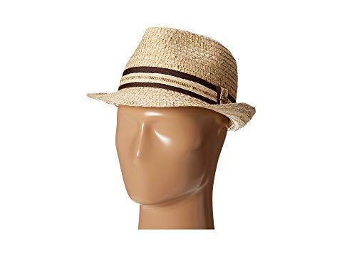 【海外限定】バッグ レディース帽子 【 BURI STRAW FEDORA WITH CONTRAST TRIM 】