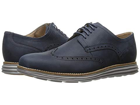 コールハーン COLE HAAN グランド メンズ ビジネススニーカー 【 Original Grand Shortwing 】 Blazer Blue Leather/ironstone
