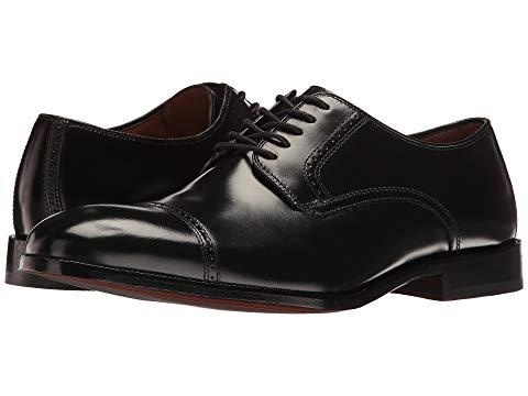 JOHNSTON & MURPHY ドレス キャップ 帽子 オックスフォード メンズ ビジネススニーカー 【 Bradford Dress Cap Toe Oxford 】 Black Brush-off