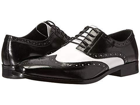 STACY ADAMS オックスフォード メンズ ビジネススニーカー 【 Tinsley Wingtip Oxford 】 Black/white