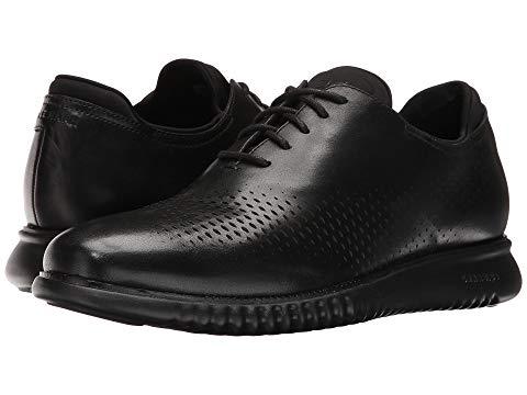 コールハーン COLE HAAN レーザー オックスフォード 2.zerogrand メンズ ビジネススニーカー 【 2.zerogrand Laser Wing Oxford 】 Black Leather/black