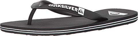 QUIKSILVER クイックシルバー 黒 ブラック 白 ホワイト 【 QUIKSILVER BLACK WHITE MOLOKAI 】 メンズ サンダル