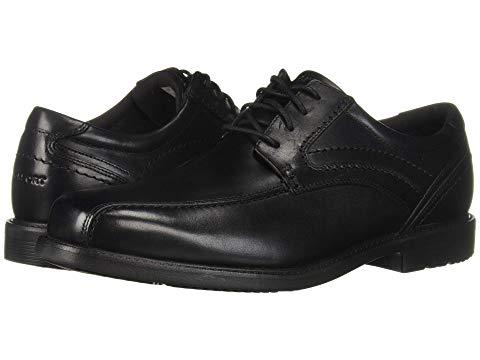 ROCKPORT オックスフォード メンズ ビジネススニーカー 【 Style Leader 2 Bike Toe Oxford 】 Black Waxed Calf