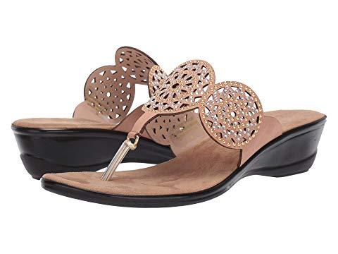 レディース Onex 【Alfie Studded Leather Thong Wedge Sandals】 オネックス サンダル・ミュール Black シューズ・靴