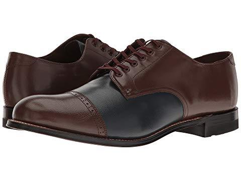 STACY ADAMS キャップ 帽子 オックスフォード メンズ ビジネススニーカー 【 Madison Cap Toe Oxford 】 Brown/navy